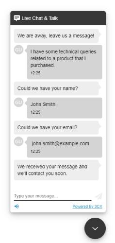 Chat statt Kontaktformular